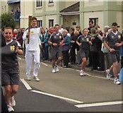 SX9265 : Olympic torch at Babbacombe by Derek Harper
