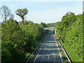 SN9584 : A470 through Llanidloes by Andrew Hill
