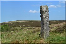 SK2775 : Remote guide post west of Bar Brook by Neil Theasby