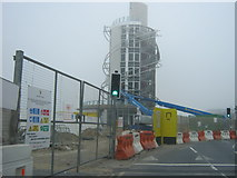 NZ6025 : Vertical Pier under construction at Redcar by peter robinson
