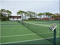 NT6779 : Coastal East Lothian : Tennis Courts at Winterfield Park, Dunbar by Richard West