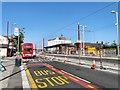 SJ9098 : Droylsden Tram Stop Under Construction by Gerald England