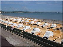 SY6879 : Pedalos - Weymouth Beach by Paul Gillett