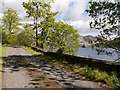 NG8724 : Road at west side of Loch Duich by Trevor Littlewood