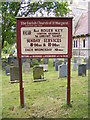 TG5200 : St.Margaret's Church sign, Hopton-on-Sea by Adrian Cable