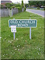 TM5299 : Old Church Road sign by Adrian Cable