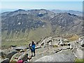 NR9740 : View down into Glen Rosa from top of Goatfell by Rob Farrow