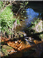 SK2772 : Iron rich mineral spring, Heathy Lea Brook, Robin Hood by Karl and Ali