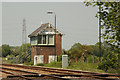 SK7939 : Bottesford West junction signal box by Richard Croft