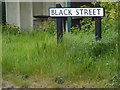 TM5186 : Black Street sign by Adrian Cable