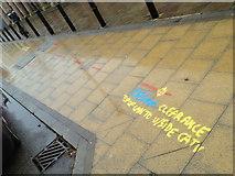 SP3165 : Footway markings, Parade by Royal Pump Rooms by Robin Stott