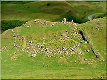 NG4162 : Ruin above Fairy Glen by Dave Fergusson