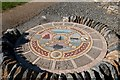 NL6698 : Mosaic on Herring Trail, Castlebay, Barra by Becky Williamson