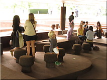 TQ2679 : Seating and clients, Serpentine Gallery Pavilion 2012 by David Hawgood