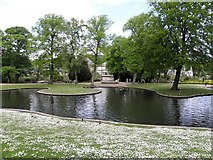 SK0573 : Pond, Buxton by Kenneth  Allen