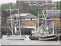TQ3479 : Tall Ships at Bermondsey by Colin Smith
