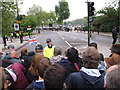 TQ2777 : Diamond Jubilee Pageant - security at Chelsea Embankment by David Hawgood