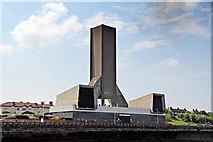 SJ3290 : Kingsway Road Tunnel Ventilation Tower, Seacombe by El Pollock
