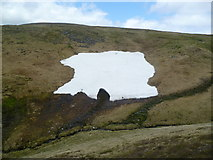 NO1978 : Snow patch under Cairn of Claise by Michael Graham
