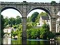 SE3457 : The Viaduct spanning the River Nidd at Knaresborough by John M Wheatley