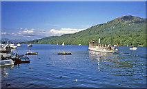 SD3787 : Tern leaves Lakeside by Trevor Rickard