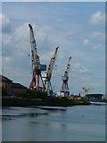 NS5566 : Cranes at Govan by James Allan