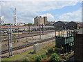 SE5951 : York Railway Station & Wheel by Alan Heardman