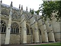 SX9292 : Massive buttresses, Exeter Cathedral by Rob Farrow