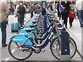 TQ2980 : London: Boris Bikes on Panton Street by Chris Downer