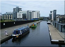 NT2472 : Edinburgh Quay from the Leamington Lift Bridge by kim traynor