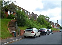 ST3288 : Steps up to Chaucer Road houses, Newport by Jaggery