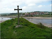 NU2410 : Wooden cross on Church Hill by Russel Wills
