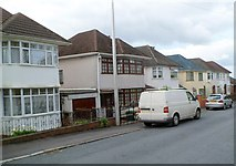 ST3288 : Houses on the south side of Chaucer Road, Newport  by Jaggery