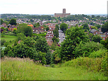 SU9849 : View towards Guildford Cathedral by Robin Webster