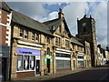 NU1813 : Alnwick Townscape : Architectural Delight In Fenkle Street by Richard West
