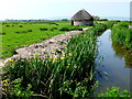 SS4735 : Braunton Marsh Round Linhay by Nigel Mykura