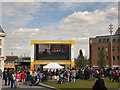 TQ4378 : The Big Screen in Woolwich by Stephen Craven
