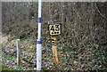 TQ6527 : Distance marker, Stonegate Station by N Chadwick
