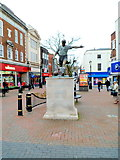 SO9490 : Duncan Edwards statue, Dudley by Jaggery