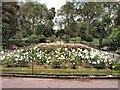 TQ2877 : Flowers at Battersea Park entrance by Paul Gillett