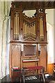 TF1476 : Organ, St Giles church, Langton by Wragby by J.Hannan-Briggs