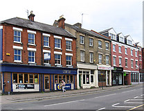 SP8868 : Wellingborough - shops on High Street by Dave Bevis