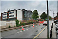 SK5236 : Road works outside South Nottingham College by David Lally