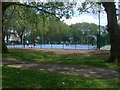 TQ3189 : Ducketts Common basketball courts 2012 by fodc