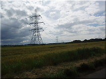 TL2026 : Pylons near St Ippollytts by Bikeboy