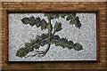TQ3382 : Mosaic panel, Ezra Street by Julian Osley