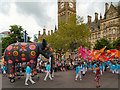 SJ8398 : Manchester Day Parade, The Elephant in Albert Square by David Dixon