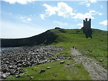 NU2521 : Lilburn Tower of Dunstanburgh Castle by Russel Wills