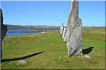 NB2133 : Calanais Stones  looking West by Stephen Darlington