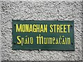 H5025 : Street sign, Monaghan Street by Kenneth  Allen